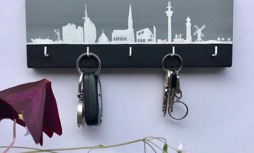 Schlüsselbrett Skyline Bremerhaven