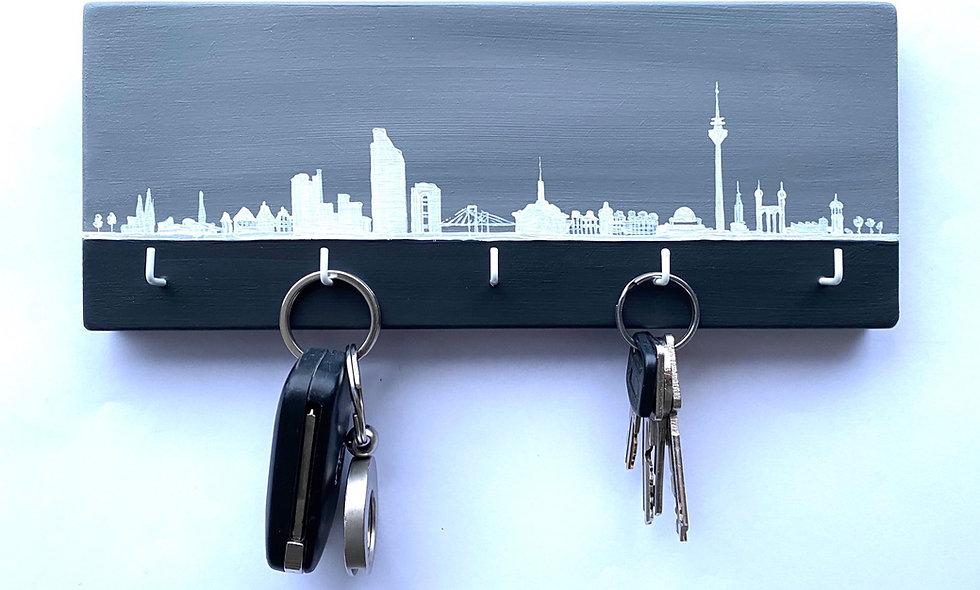 Schlüsselbrett Skyline Düsseldorf