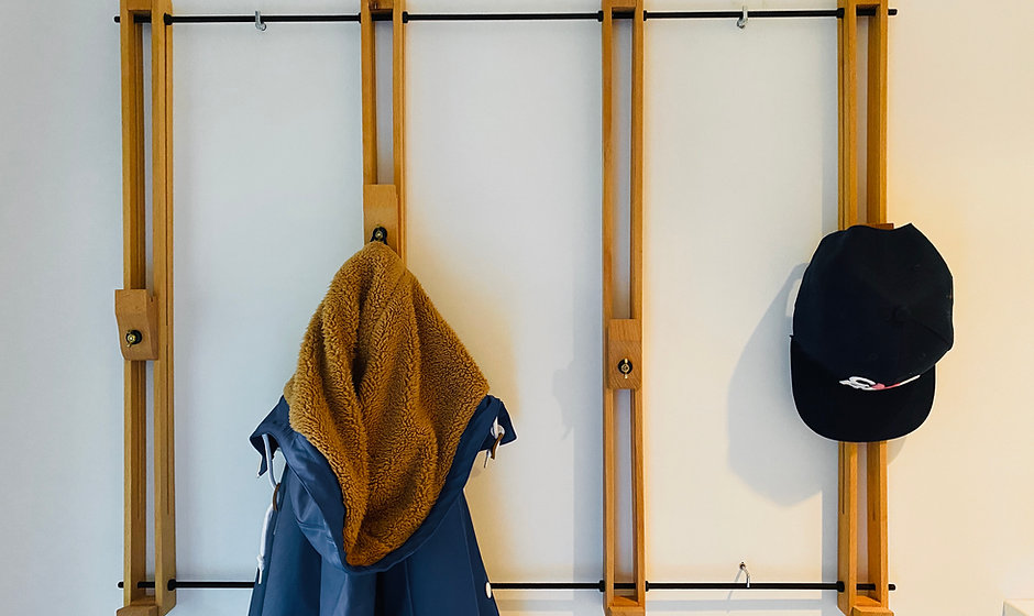 Garderobe aus Künstlerstaffelei - Flurgarderobe