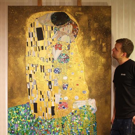 Reproduktion - Der Kuss von Gustav Klimt