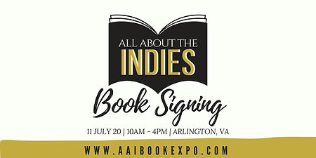All About the Indies Book Signing, Arlington, VA, July 11, 2020