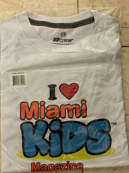 Miami Kids Magazine Kids White T-Shirt