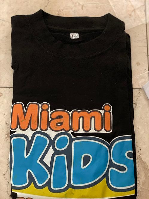 Miami Kids Magazine Adult Black T-Shirt