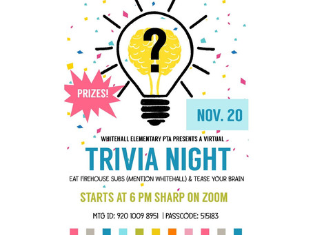 Make Sure To Mark Your Calendars For Trivia Night