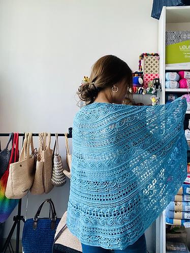 Crochet lace shawl - half circle