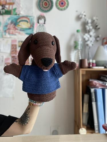 Dog puppet - cath y - softfun/ cahlista