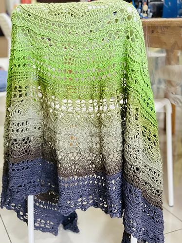 Crochet Shawl - Moonlight Dafni