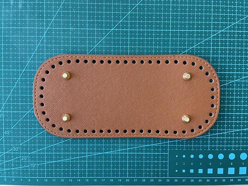 PU leather bag base - brown
