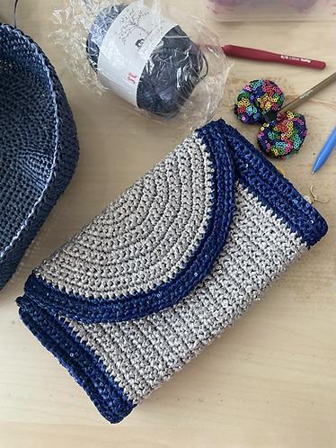 Crochet Clutch with sequins