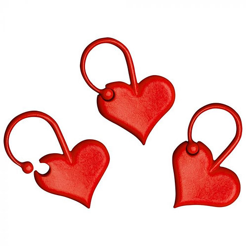 Addi Heart Stitch Markers - 10pcs
