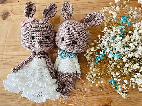 Wedding Bunny (one pair) - preorder