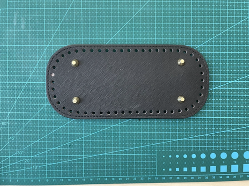 PU leather bag base - black