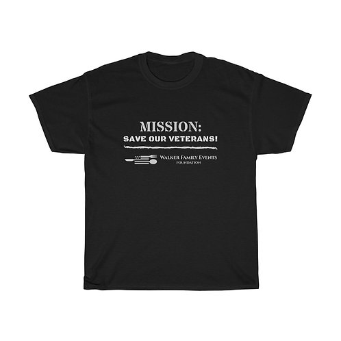 Mission: Save Our Veterans Unisex Heavy Cotton Tee