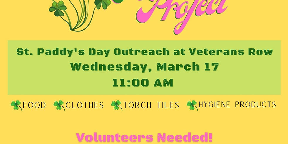 St. Patrick's Day Outreach at Veterans Row