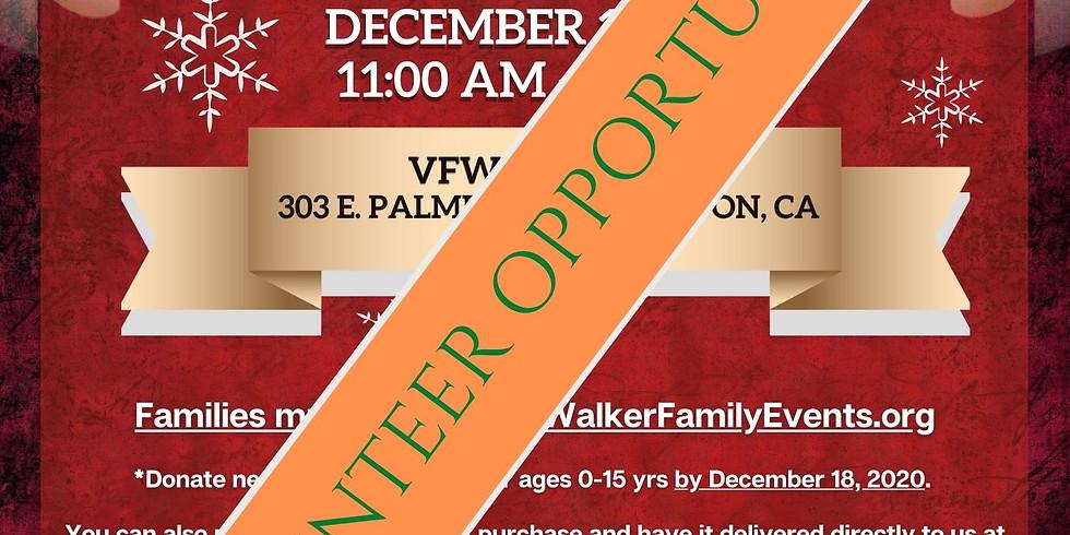 VOLUNTEERS ONLY -Compton Veterans Christmas Giveaway