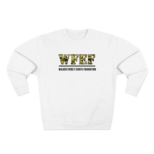 WFEF Camo Letters Unisex Premium Crewneck Sweatshirt