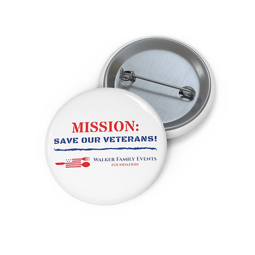 Walker Family Events Foundation Custom Pin Buttons
