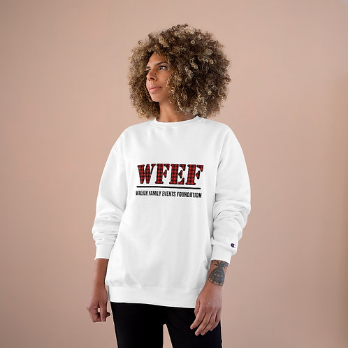 Walker Family Events Foundation Champion Sweatshirt - Red Plaid Lettering