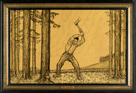 The Lumberjack (Self-portrait)