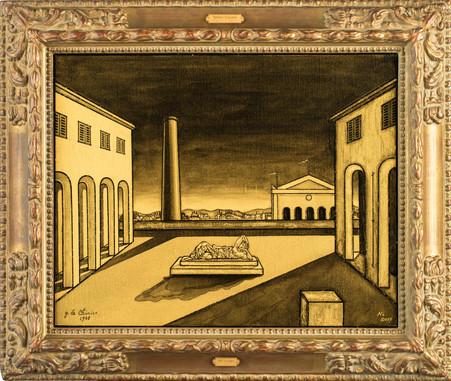 Italian Square(Homage to Chirico)