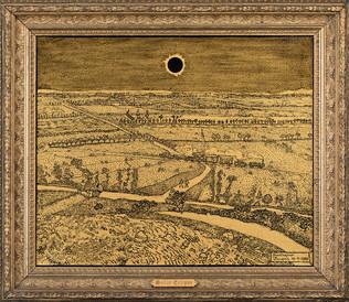 Solar Eclipse (Homage to Van Gogh)