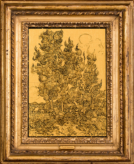 Cypresses - Homage to Van Gogh