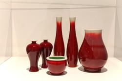 郎红釉器皿
