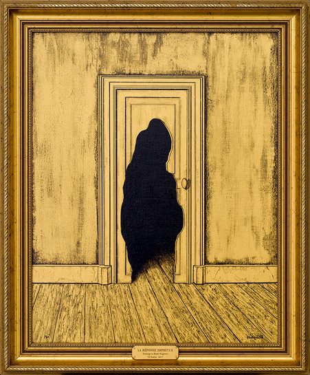 The Unexpected Answer (Homage to Rene Magritte)