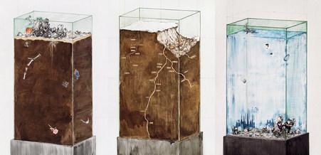 Transparent Monument (Triptych)