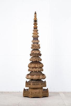 浮屠(Pagoda),2017,木 钢,207x63x63cm.jpg