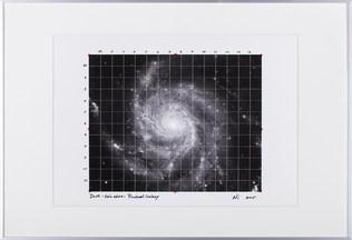 Dust Sketch ( Pinwheel Galaxy:Heic0602 )