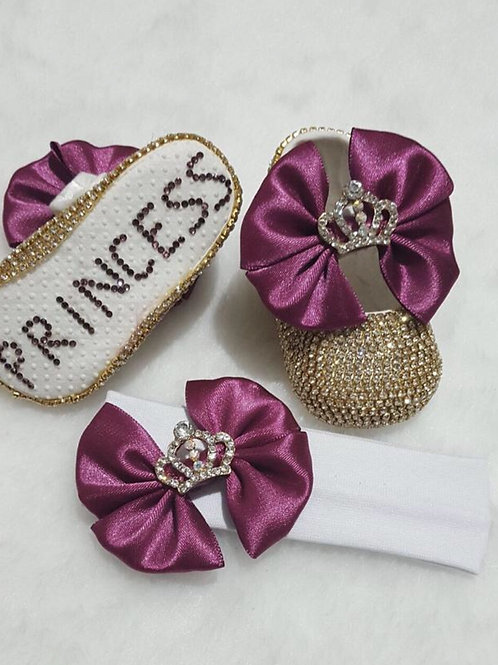 Princess Crown baby shoes