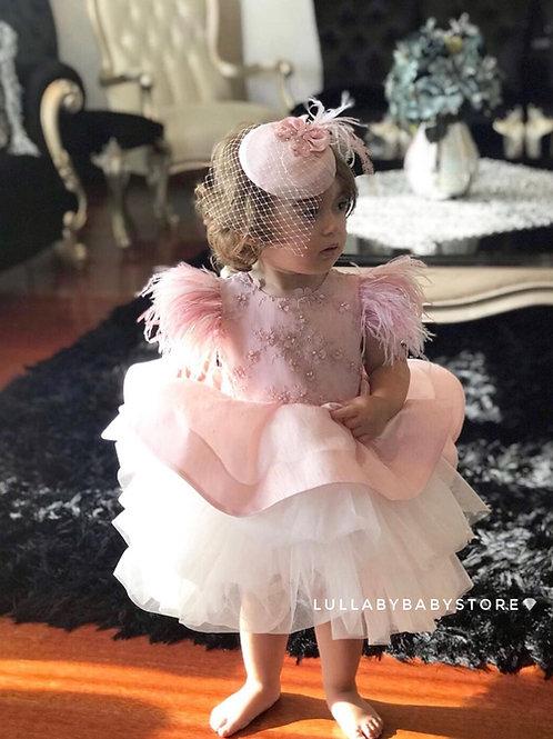 Blush Swan Dress