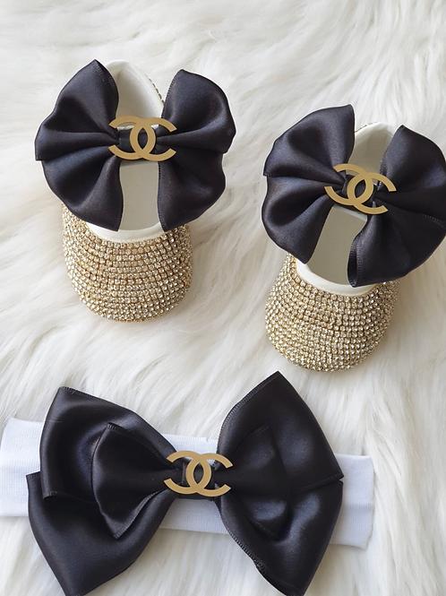 Luxury CC Shoes and headband