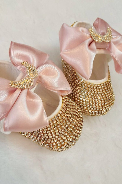 Angel wings baby shoes