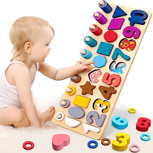 Eduactional  Multi-Function Logarithmic Board Montessori  Wooden Toys