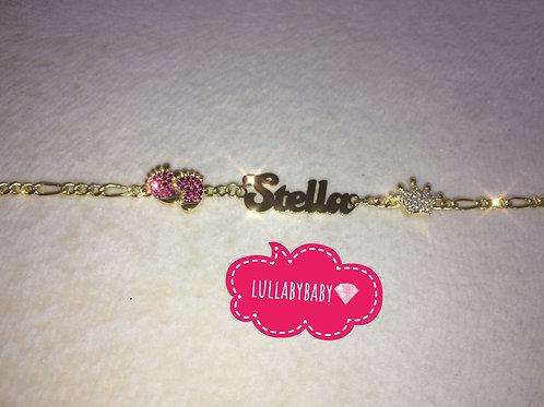 Silver Covered Gold Bracelet