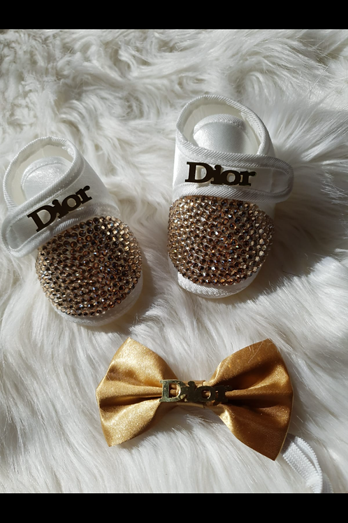 Luxury car design shoes and bow tie