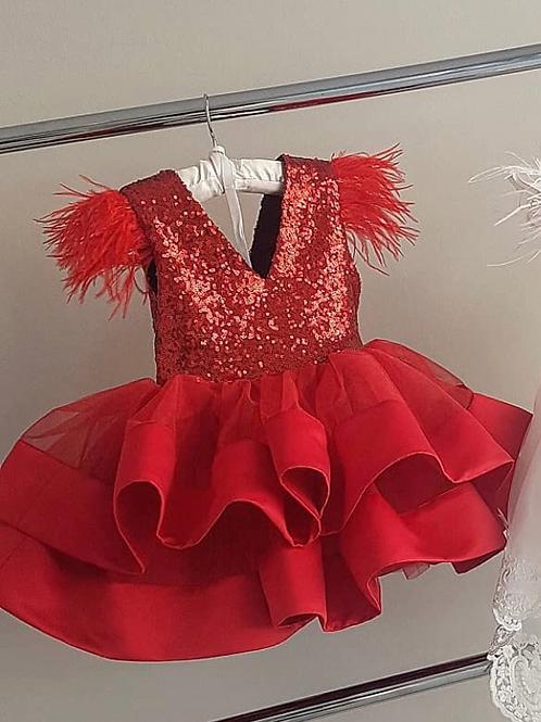 Red Velvet Dress