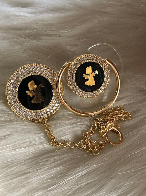 Angel Star Glam pacifier and clip