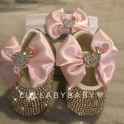 Crown Heart Baby Shoes
