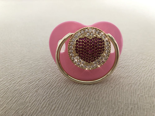 Swarovski Heart Design Pacifier