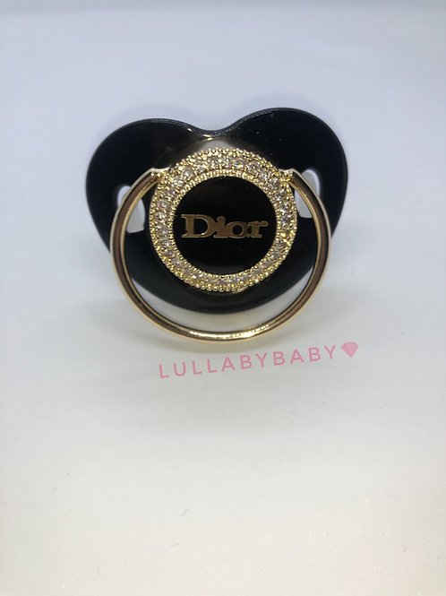Lux Glam pacifier and clip