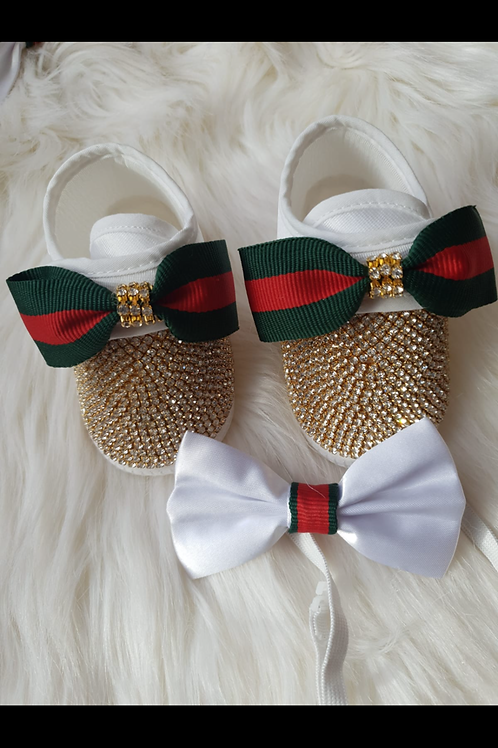 Gucci boys shoes and bow tie