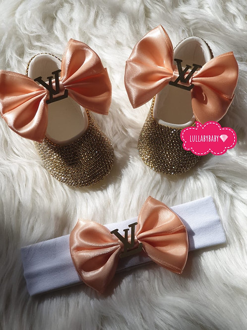 Designer LV Shoes and headband