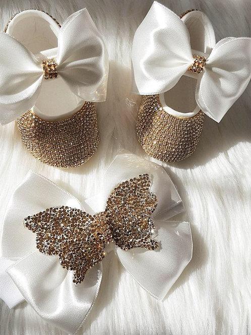 Swarovski Rhinestone Baby Shoes