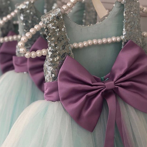 Alara Dress (Teal&Purple)