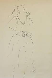 Stephanie in a Polka-dotted Dress.
