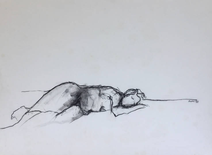 Reclining Female in Charcoal.