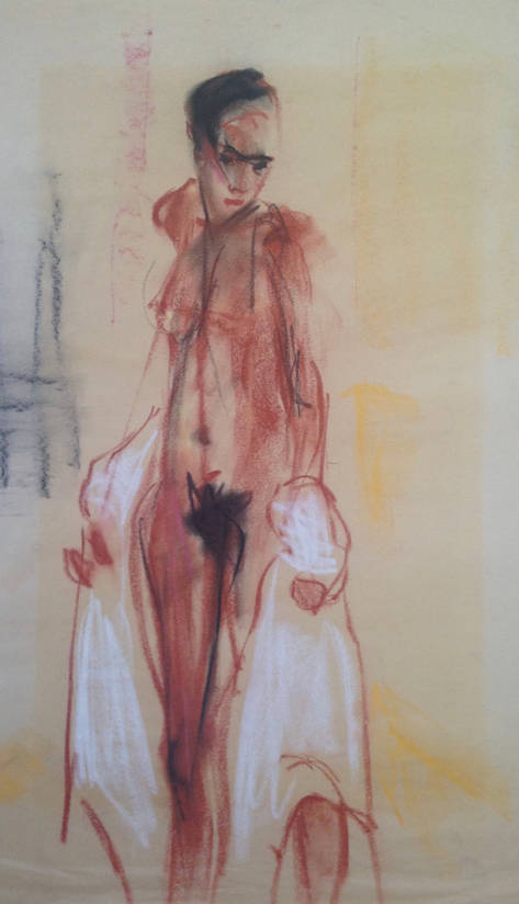 Standing Woman with White Drape.